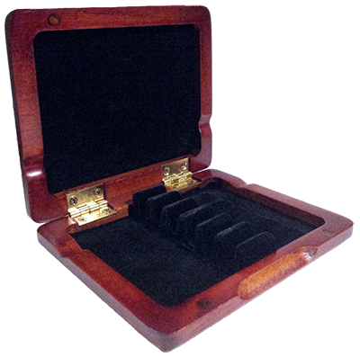 Oboe Reed Case Stained Wood Holds Six Reeds